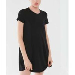 Urban Outfitters Black Ribbed T-Shirt Dress (NWOT)